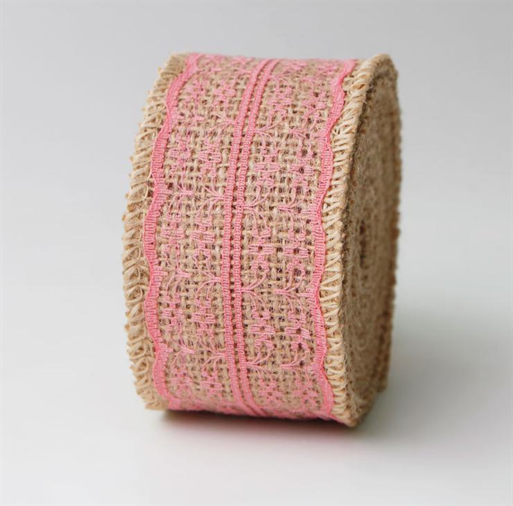 丝蜜思ribbon织带 麻带蕾丝工艺丝带卷 DIY手工婚庆圣诞麻布卷