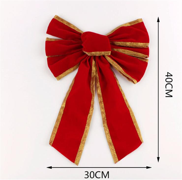 思蜜丝圣诞节蝴蝶结丝带 圣诞蝴蝶结装饰 红绿色蝴蝶结 雪花铃铛