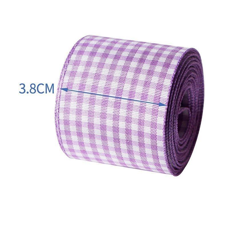 思蜜丝ribbon涤纶格子带3.8cm复活节diy装饰配件定制