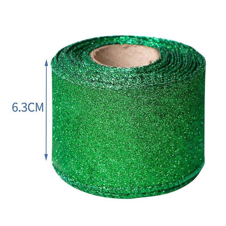 思蜜丝ribbon仿麻料丝带63mm圣帕特里克节绿色三叶草