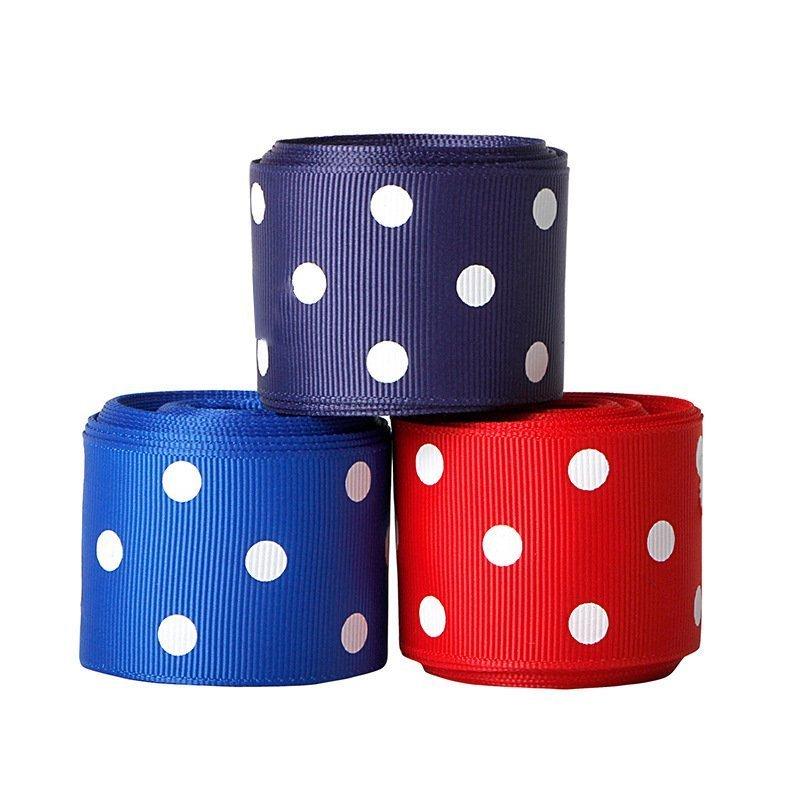 思蜜丝ribbon美国独立日蓝色织带国庆节装饰辅料丝带