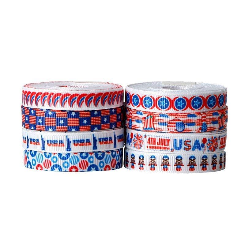 思蜜丝ribbon美国独立日丝带0.9cm国庆节装饰织带