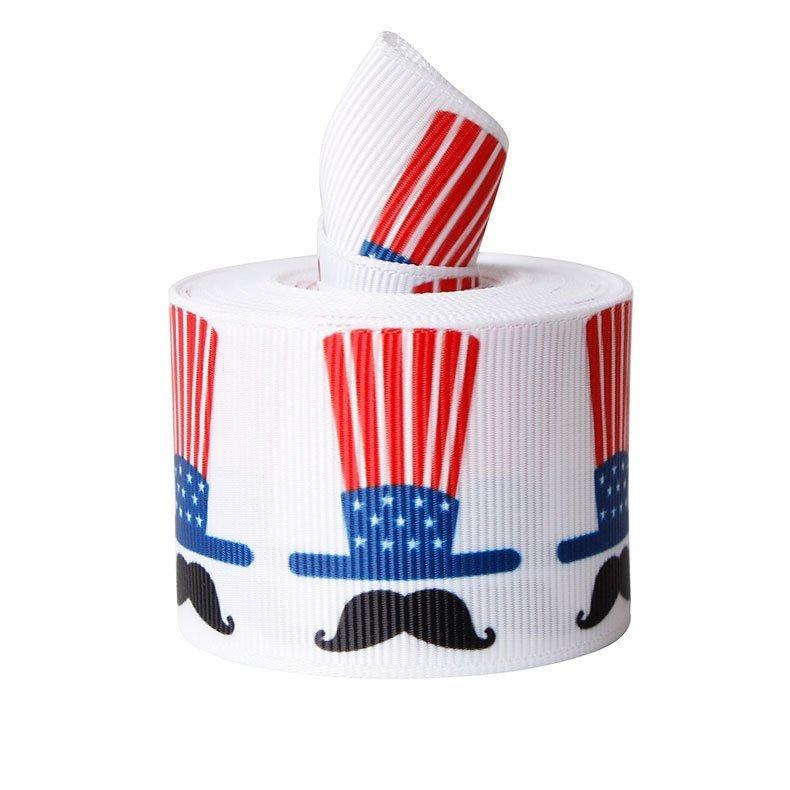 思蜜丝ribbon罗纹带2.2-3.8cm热转印美国独立日丝带