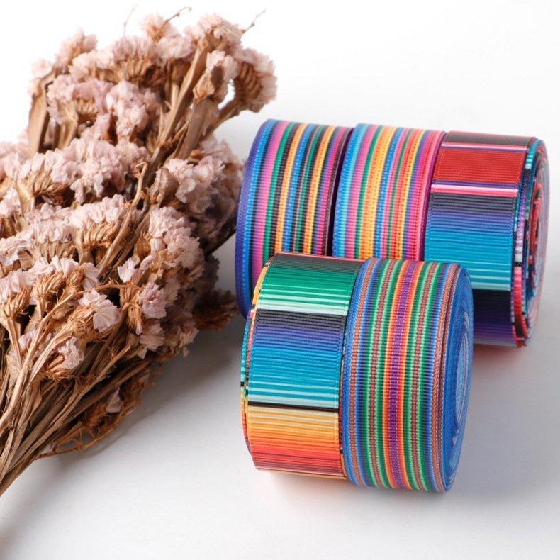 思蜜丝ribbon罗纹织带热转印墨西哥风情织带批发定制