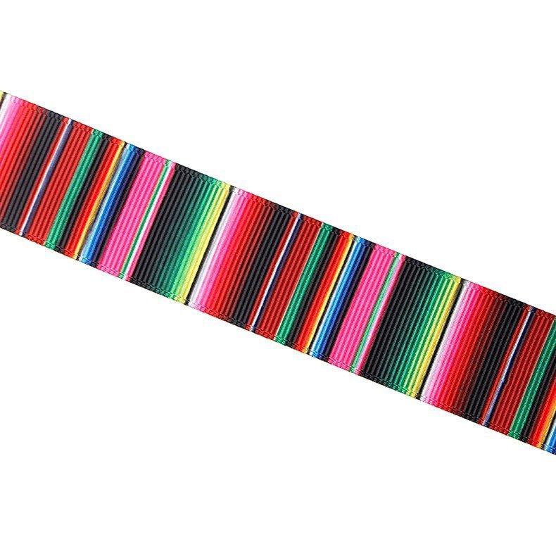 思蜜丝ribbon涤纶螺纹织带热转印渐变墨西哥风情丝带